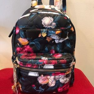 NWOT Betsey Johnson Floral Backpack